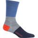Icebreaker M's Lifestyle UL Crew Rugby Stripe Socks sea blue/twister hthr/midnight navy
